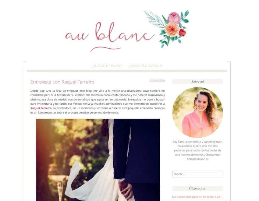 Entrevista con Raquel Ferreiro - Au Blanc-n1
