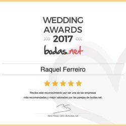 Premio 2017 Atelier Novias Madrid Bodas.net Raquel Ferreiro