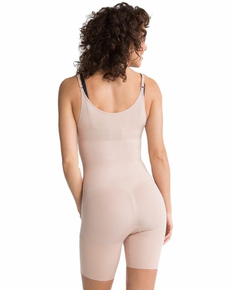 Slimmer & Shine OPEN BUST MID THIGH BODY SUIT 2325
