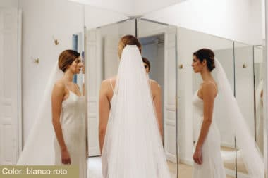 Tul Sedoso Blanco Roto Atelier Novias Madrid Raquel Ferreiro