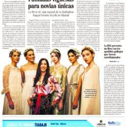 Revistas aparición Atelier Novias Raquel Ferreiro